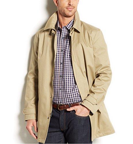Michael Michael Kors Men's Goshen Poly-Bonded Raincoat (40R, British Khaki) (Rain Jackets Michael Kors compare prices)