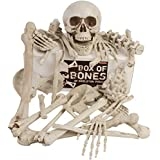 Kangaroos Box Of Bones; 30 Pc Set With Skull, Flexible Jaw, Skeleton Bones (Color: White, Tamaño: Large)