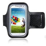 Bestwe Schwarz Neoprene Sports Fitnesszentrum Jogging Armband Tasche Oberarmtasche Schutz H�lle Etui Case f�r Samsung Galaxy S4 Android Smartphone Handy
