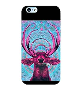 printtech Nature Animal Deer Weed Back Case Cover for Apple iPhone 6S Plus