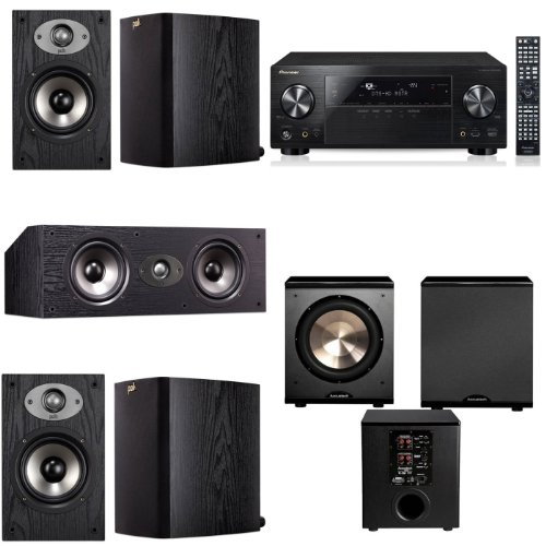 Polk Audio Tsx110 5.1 Home Theater System (Black) Pioneer Vsx-1123-K 7.2 Avr