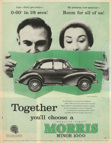 Morris Minor 1000 Advert Art Print
