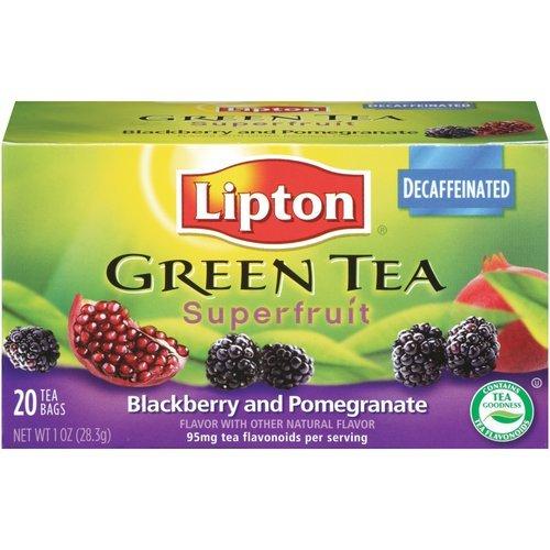 Lipton, Green Tea Bags, Superfruit, Blackberry Pomegranate, 1Oz Box (Pack Of 3)