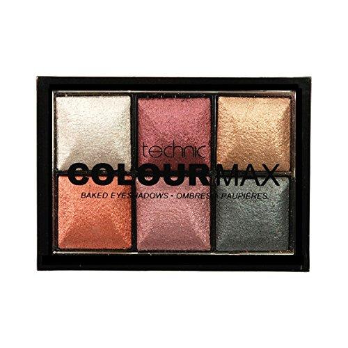 Technic Colour Max, Palette di 6 ombretti cotti, 2 g