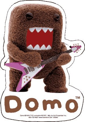 Domo Rockstar Flying V-Guitar Sticker - 1