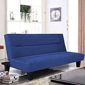 """Giantex Microfiber Futon Folding Couch Sofa Bed 6"""" Mattress Sleep Recliner Lounger"""
