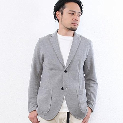 コーエン(メンズ)(coen) ツイルカットテーラードジャケット【ミディアムグレー/L(70)】