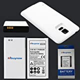 Mbuynow® 7500mAh High Capacity Extended Battery for Samsung Galaxy S5 SM-G900 GT-i9600 with Back Cover (Battery+White Back Cover)