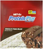 MET-Rx Protein Plus Protein Bar, Chocolate Fudge Deluxe, 3-Ounce Bars (Pack of 12)