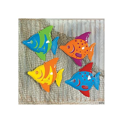 3D Plastic Tropical Fish Decorations (12)