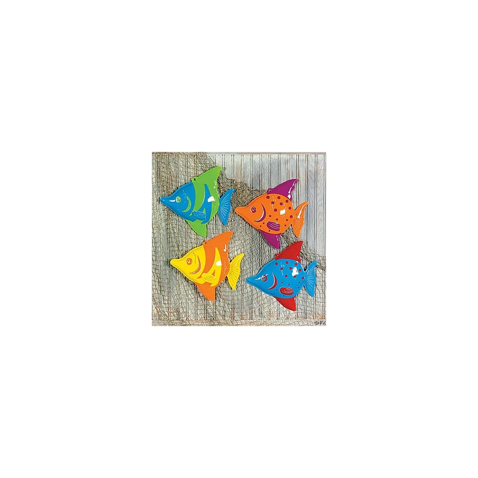3D Plastic Tropical Fish Decorations (12): Home & Kitchen
