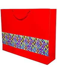 A&A Orange Disg. Paper Shopping Bag Set Of 10