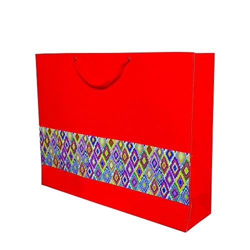 A&A Orange Disg. Paper Shopping Bag Set Of 10