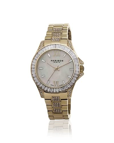 Akribos XXIV Women's AK670YG Gold Stainless Steel Crystal Watch