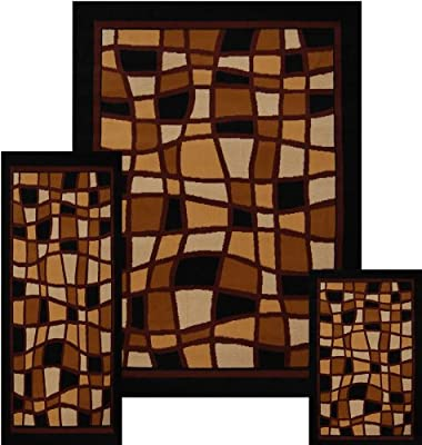 Home Dynamix Premium 7542-500 Polypropylene 7-Feet 8-Inch by 10-Feet 7-Inch Area Rug, Brown