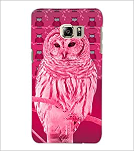 PrintDhaba Owl D-3258 Back Case Cover for SAMSUNG GALAXY NOTE 5 EDGE (Multi-Coloured)