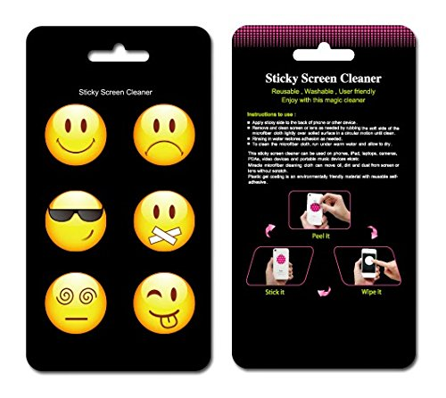eunichara-sticky-cleaner-smiles-smiley-faces-6-in-1-microfiber-screen-cleaner-sticker