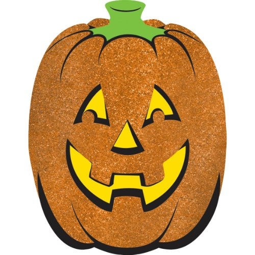 cutout glitter large pumpkin