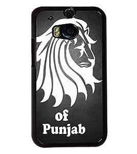 Fuson Lion of Punjab Back Case Cover for HTC ONE M8 - D4034