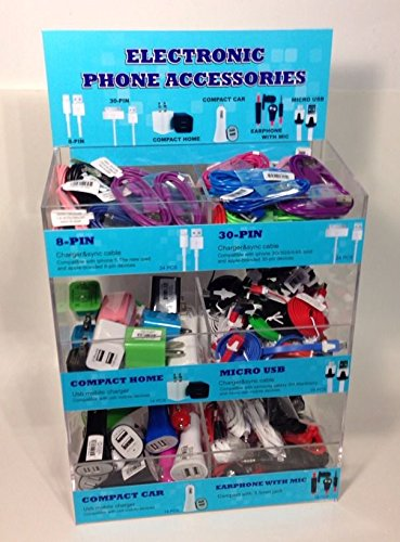 Wholesale Lot 116 Pc. Display- Iphone Car & Home Chargers, Earphones, Micro Usb