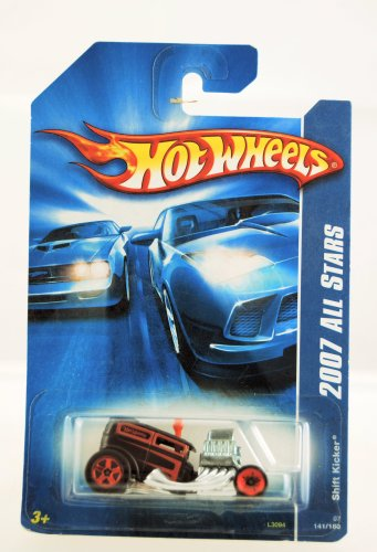 Hot Wheels - 2007 All Stars - Shift Kicker - Black & Red Paint - Red Custom Wheels - Collector #141/180 - Limited Edition - Collectible 1:64 Scale