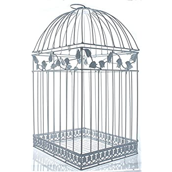 Fun Express White Birdcage Wedding Gift Card Holder