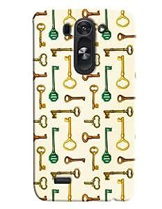 Blue Throat Key Pattern Printed Designer Back Cover/ Case For LG G3 Beat