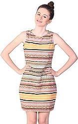 Unimod Women's Plain Dress (Multicolour, S)