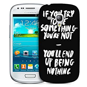 Snoogg Something You Must Be Designer Protective Back Case Cover For Samsung Galaxy S3 Mini