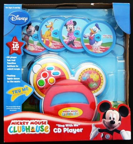 "Disney Mickey Mouse Clubhouse ""Canta conmigo"" Reproductor de CD"