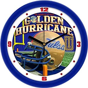 NCAA Tulsa Golden Hurricane Helmet Wall Clock by SunTime