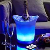 Acrylic Lighted Color Changing Remote Controlled LED Champagne Ice Bucket