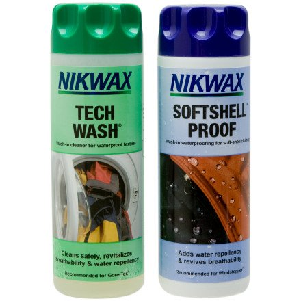 Nikwax Tech Wash and Softshell Proof Wash-In Duo-Pack - 300 ml One Color, 10oz