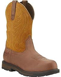 Ariat Men\'s Waterproof Groundbreaker Work Boot Steel Toe Brown 9.5 D(M) US
