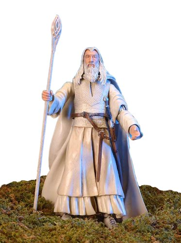 Lord of the Rings Gandalf the White Figure - Original Two Towers Box Packaging (Saruman Action Figure compare prices)