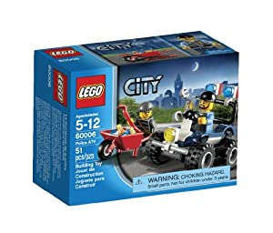 乐高城市系列警匪追击玩具LEGO City Police ATV 60006,$5.24