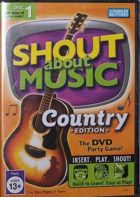 Shout About Music Country Edition by Parker Brothers - 1