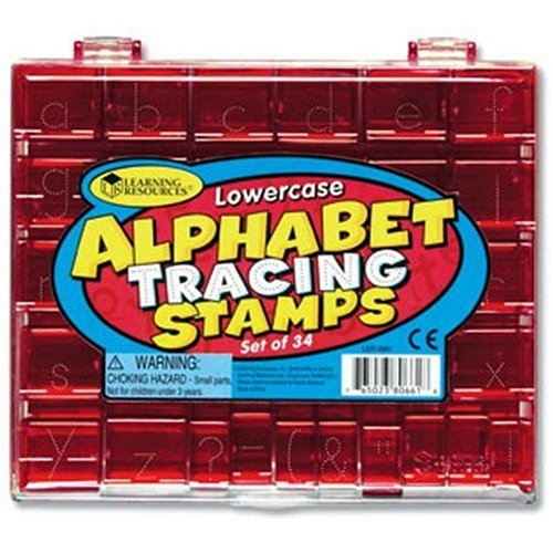 Learning Resources Lowercase Alphabet Tracing Stamp Set