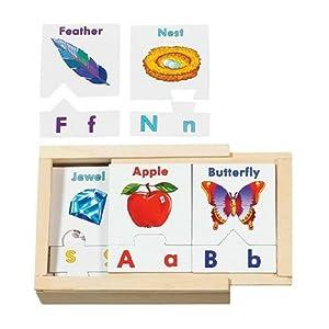 Melissa & Doug Alphabet Teaching Puzzle Cards
