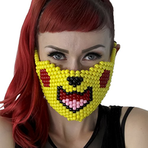 Pikachu Pokemon Full Kandi Mask by Kandi Gear