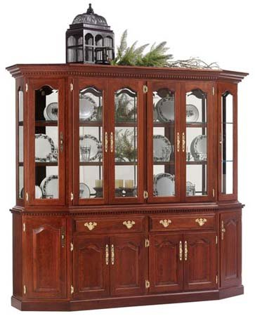 Amish USA Made Canted Dining Room Hutch - cs78fd