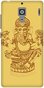 The Racoon Grip Gold Ganesh hard plastic printed back case / cover for Xiaomi Redmi