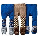 [backbuy] 3para 0-3años bebé niños pantalones de Leggings de punto pantalones PJ15 Talla:12-18 meses