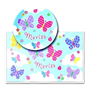 Best Quality Butterfly Garden Personalized Meal Time Plate Set By Olive Kids
