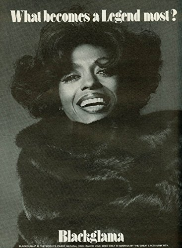 Diana Ross What Becomes A Legend Most? Blackglama Mink Ad 1974