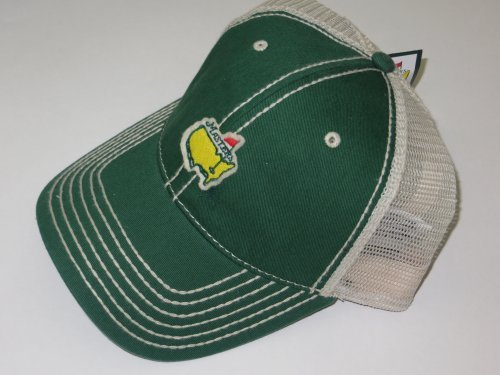 MASTERS Golf Tournament Logo GREEN FITTED Large/XL Mesh HAT Trucker Style 2016 Masters New! (Masters Trucker Hat compare prices)