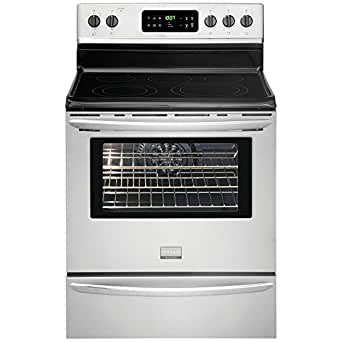 """Gallery Series 30"""" Electric Smoothtop Freestanding Range with 5.7 Cu. Ft. Convection Oven Color: Stainless Steel"""