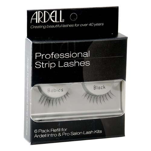 Ardell False Eyelashes 6 pack InvisiBands Babies Black Strip Lashes