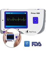 Heal Force Prince 180-B Moniteur électrocardiogramme portable avec logiciel et câble USB