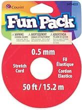 Clear Fun Pack 05Mm Stretch Cord Spool - 50 Feet - Clear Fun Pack 05Mm Stretch Cord Spool - 50 Feet